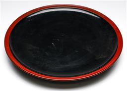 Sale 9246 - Lot 62 - A black red lacquer table centrepiece (Dia:48cm)