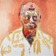 Sale 8330A - Lot 68 - Ben Quilty (1973 -) - Commodore John Oddie, after Afghanistan 90 x 90cm (116 x 116cm)