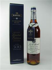 Sale 8353 - Lot 607 - 1x Martell Cordon Bleu - 300 1715-2015 300 Year Anniversary Extra Old Cognac - 40% ABV, 700ml in box