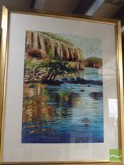 Sale 8513 - Lot 2024 - Sergio Sill - Central Australian Gorge 74.5 x 54.5cm (frame size 105 x 87.5cm)