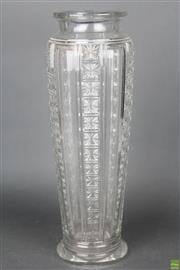 Sale 8630 - Lot 92 - Large Cut Crystal Vase