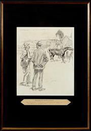 Sale 8908H - Lot 41 - NORMAN LINDSAY (1879 - 1969) - The Great Australian Language SUL, 28.5 x 23.5cm