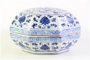 Sale 8890 - Lot 80 - Blue and White Dragon Themed Octagonal Chinese Bowl (Dia28cm)
