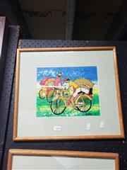 Sale 8978 - Lot 2088 - Group of (3) South East Asian Batiks, framed