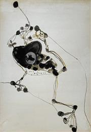 Sale 8996A - Lot 5001 - John Olsen (1928 - ) - Frog & Fly 86 x 61 cm