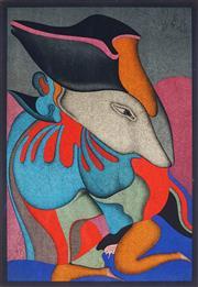 Sale 9032A - Lot 5074 - Mikhail Chemiakin (1943 - ) - Hidden Love 64.5 x 44.5 cm (sheet: 76 x 54 cm)