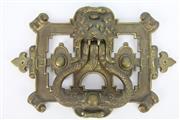 Sale 8654 - Lot 82 - Brass Door Knocker with Zoomorphic Motif (30cm x 22cm)