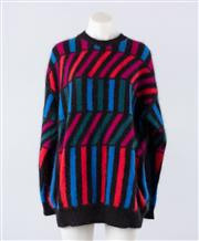 Sale 8760F - Lot 41 - A Kenzo sweater, knitted in a geometric angora blend, size XL