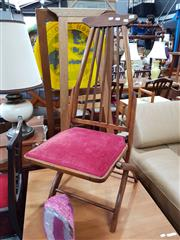 Sale 8822 - Lot 1151 - Timber Slatted Back Folding Chair