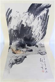 Sale 8913C - Lot 77 - Eagle Themed Chinese Scroll
