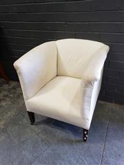 Sale 8988 - Lot 1025 - Tub Chair on Castors (H: 72 x W: 65cm)