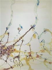 Sale 8996A - Lot 5002 - John Olsen (1928 - ) - Giraffe & Ballons I 97 x 72.5 cm
