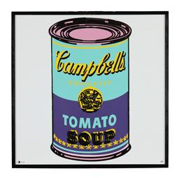 Sale 9245J - Lot 90 - Andy Warhol - Campbells Soup Can signed lower left, Note: Accompanied by Rosenthal Studio Line Andy Warhol Certificate of Authentici...