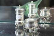 Sale 8288 - Lot 23 - Australian Sterling Silver Mustard Pot & Pepperette