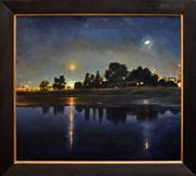Sale 8286 - Lot 534 - Peter Churcher (1964 - ) - Nocturne 2 - Melbourne Rocks, 1998 76 x 87cm