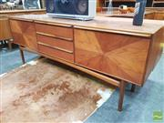 Sale 8421 - Lot 1078 - Superb McIntosh Rosewood Sideboard with Sunburst Doors