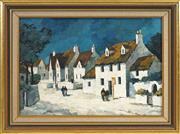 Sale 8449A - Lot 563 - Tom Esplin (1915 - 2005) - Hamlet in Britanny 27 x 39cm