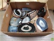 Sale 8637 - Lot 1029 - Box Natural Base Cut Agates