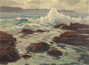 Sale 8722 - Lot 503 - Erik Langker (1898 - 1982) - Crashing Waves 36 x 48cm