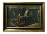 Sale 8828A - Lot 23 - A knights accolade by  Louis E Fournier (French  1857-1917) oil on canvas on board signed. 42 x 64 cm