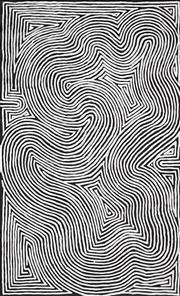 Sale 8901 - Lot 533 - George (Hairbrush) Tjungurrayi (c1947 - ) - Tingari 148 x 94 cm