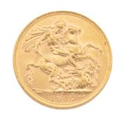 Sale 8855H - Lot 54 - 1907 Gold Sovereign weight approx 7.95g,