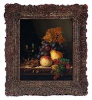 Sale 8994H - Lot 73 - Edward Ladell (1821 - 1886) - still life framed size 51 x 45cm
