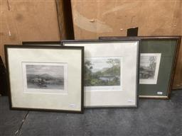 Sale 9101 - Lot 2053 - A Group of 4 Hand Coloured Engravings by Samuel Prout Depicting Scenes of Colonial Australia