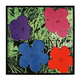 Sale 9245J - Lot 89 - Andy Warhol - Flowers signed lower left Note: Accompanied by Rosenthal Studio Line Andy Warhol Certificate of Authenticity. Comes wi...