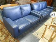 Sale 7943A - Lot 1527 - Blue Two Piece Lounge Suite