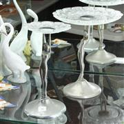 Sale 8304 - Lot 46 - Art Deco Pair of Graduated Tazzas