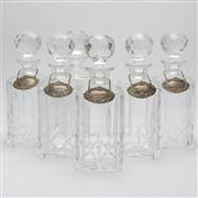Sale 8342 - Lot 2 - Atlantis Crystal Jose Set of Six Decanters