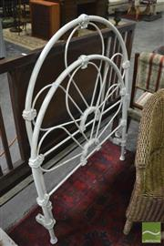 Sale 8390 - Lot 1644 - White Painted Cast Iron Bed Frame