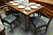 Sale 8528 - Lot 1019 - Teak 1960s Table and 6 Chairs