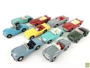 Sale 8559A - Lot 16 - 10 Tri-ang Spot-On Diecast Cars, incl Triumph, Renault Floride, Daimler