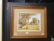 Sale 8595 - Lot 2080 - Beryl Gutherie (1929 - 2015) - Summer Landscape 19 x 24.5cm (frame: 35.5 x 41cm)