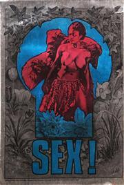 Sale 8658A - Lot 5021 - Martin Sharp (1924 - 2013) - Sex! 1967 75.5 x 49cm