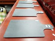 Sale 8769 - Lot 1016 - Set of Four Slate Serving Boards (40 x 20cm incl. handle)