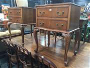 Sale 8822 - Lot 1743 - Pair of French Style 2 Drawer Bedsides