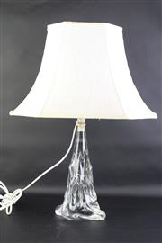 Sale 8823 - Lot 5 - A Lorraine Crystal Glass Base Table Lamp