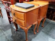 Sale 8834 - Lot 1042 - Pair of Elevated Bedsides