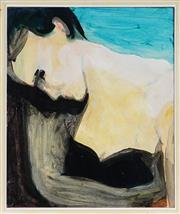 Sale 8932 - Lot 2082 - Rowan Wilson - J.A (Portrait) acrylic on canvas, 61 x 50cm, signed and labelled verso -