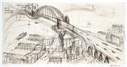 Sale 9067 - Lot 587 - Mark Hanham (1978 - ) - Harbour flow 50 x 98.5 cm (frame: 87 x 129 x 3 cm)