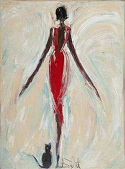 Sale 9096A - Lot 5009 - Bruno Dutot (1962 - ) - Oucha Rouge 102 x 76 cm