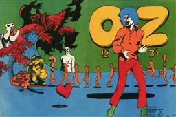 Sale 9157S - Lot 5027 - OZ Magazine Issue 15, September 1968 (Cover Art) - Mick Jagger 20 x 29.5 cm (sheet: 29.5 x 42 cm)