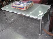 Sale 7943A - Lot 1519 - Modern Glass Top Coffee Table