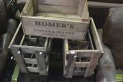 Sale 8392 - Lot 1081 - 2 Bottle Crates & Another