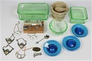 Sale 8452 - Lot 87 - Depression Glass with Other Wares incl Mortar & Pestle