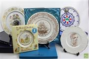 Sale 8490 - Lot 360 - Various Collectors Cabinet Plates Including Coalport And Royal Doulton
