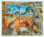 Sale 8507A - Lot 5019 - Kevin Charles (Pro) Hart (1928 - 2006) - The Blade Shearers 23 x 27cm